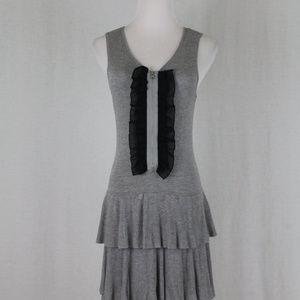 Twelve by Twelve Sleeveless Tiered Gray Knit Dress